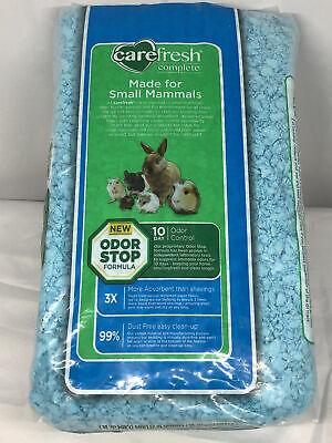 Carefresh Complete 10Day Odor Control Natural Blue Paper Small Pet Bedding 12.5L
