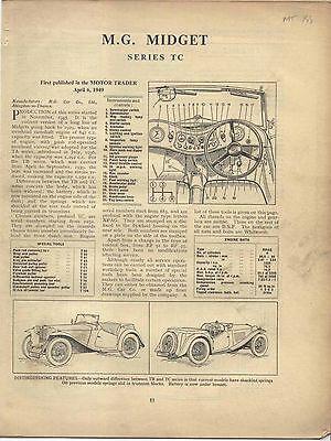 MG Midget Series TC  Motor Trader Service Data No. 155 1949