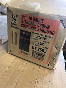 """1 1/2"""" 16 gauge standard crown staples"""