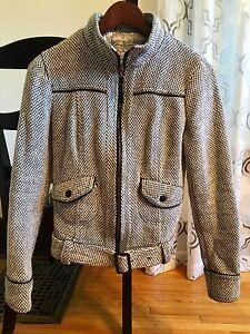 Black & White Herringbone jacket, from Mango. S/M. $40 OBO.