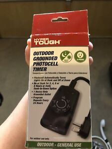 Outdoor grounded photocell timer