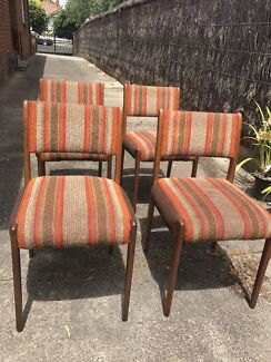 Retro vintage upholstered dining chairs