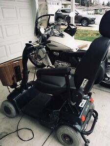 2 medical scootered. One 3 wheel, one four wheel.