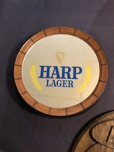 Harp Lager keg top mirror advertising great condition