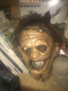 Leatherface latex mask display only