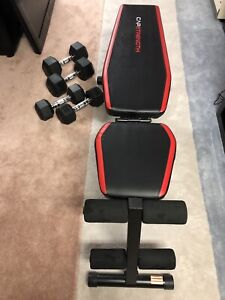 Incline decline bench with weights