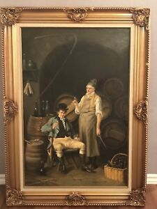 Antique Oil Painting - Vinery