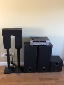 Kenwood Home theatre system 500w + powered 100w subwoofer