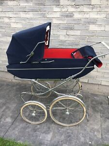 """Beautiful 46"""" Lx 17"""" Wx 49"""" H Vintage Baby Buggy"""