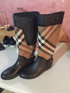 Authentic Burberry boots.