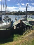 Boatyard Prince of Wales Bay - jetty, slips, boat New Town Hobart City Preview