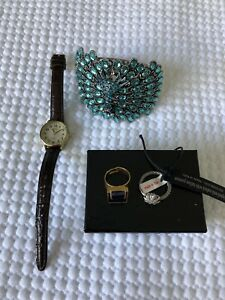 Costume Jewellery- Watch, Bracelet, and 2 Rings