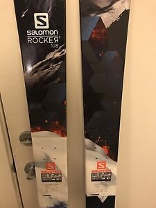 Salomon Rocker 2 twin tip skis  great condition