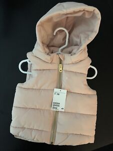 Brand New H&M Baby Girl Puffer Vest Size 6-9M