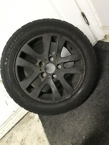 Bmw 205/55/16 winter tires 5x120 mags
