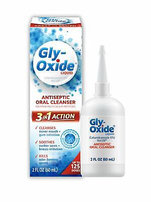 Gly-Oxide Alcohol-Free Antiseptic Mouth Sore Rinse 2 oz Mouth Sore Rinse