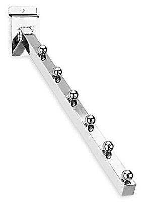 Only Hangers Chrome Slatwall 6 Ball Waterfall 1pk