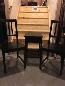 Two Chairs and side tabkr