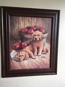 Framed print (puppies)