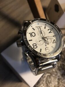 NEW SILVER NIXON WATCH 51-30 CHRONO