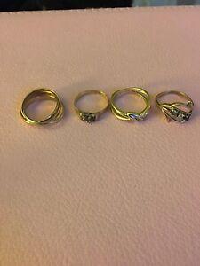 Women's gold rings