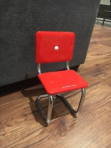 American Girl Red Chrome Chair