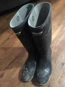 Baffin Steel Toed Rubber Boots Size 11 in Excellent Condition