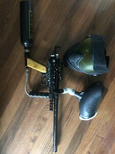 Spyder Semi-Automatic Paintball Gun with Extras