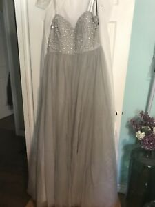 Gorgeous silver prom dress