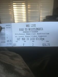 Wrestlemania @ the Aud - 2 tickets