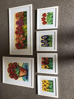6 Original Anna Blatman Paintings
