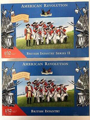 IMEX 1/32 American Revolution British Infantry Series I II 3200 3208 Lot