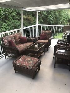 Patio Set  -  7 Pieces Wicker