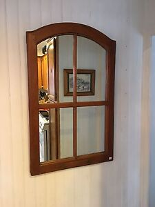 Antique window frame mirror
