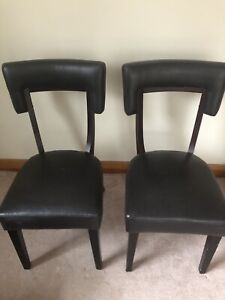 Espresso brown chairs