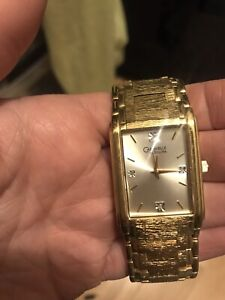 Men's Gold Plated/Diamond Watch
