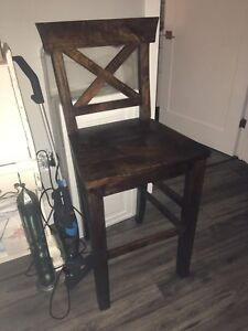 High back bar stools or kitchen chairs