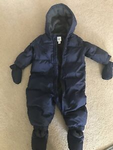 Baby Gap - boy or girl down snowsuit 6-12 months