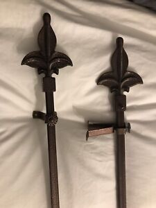 "57"" bronze Curtain rods 2 for $20"