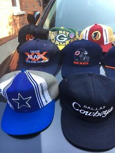 Rare vintage SnapBack sports hat collection