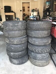 Tires with and without rims
