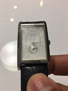 Guess Watch Steel on Leather For Men