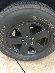 Jeep Wrangler set (5) Rims and Tires