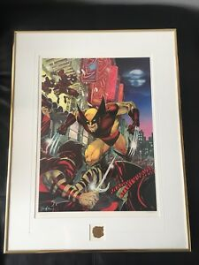 "Rare framed wolverine ""Bad Night for the Ninjas"" print signed"