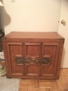 Sofa table and cabinet