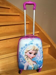 Heys Frozen and Princess carry on hard cased luggage