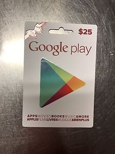 Google Play Gift Card value $25 selling for $20 Cambridge Kitchener Area image 1