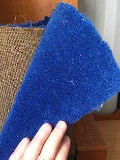 Free blue wool carpet piece
