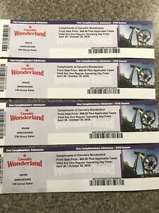 4 wonderland tickets