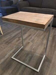 Brand New Silver Accent Table
